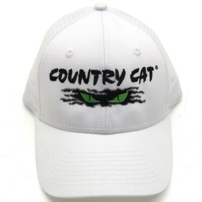 Country Cat Value Cap Trucker White - 55% Cotton 45% Polyester - CCTRUCKER/WHT