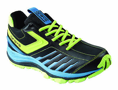 GRAYS G8000 Mens Womens Hockey Shoe Astros Trainers Black Blue Lime Green