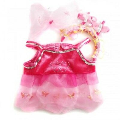 Fits Build a Bear Plush - Pink Butterfly Dance Costume Teddy Clothes