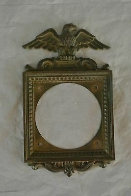 Antique NLCO Brass Switch Plate with Eagle for Twist On-Off Light Switch ~`C