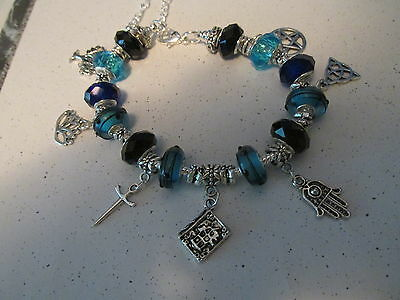 Blue with Black accents Anklet