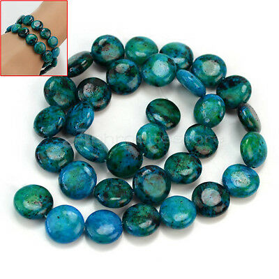 1 Strand Malachite Flat Round Loose Spacer Beads DIY Jewelry Craft Findings New