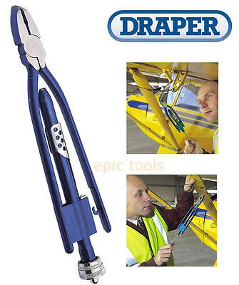 DRAPER 250mm/10in Wire Cable Twisting/Twist Ties Plier Cutter For Fencing, 38896