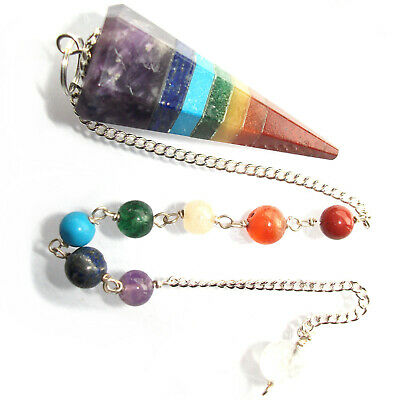 7 Chakra Point Dowsing Pendulum Crystal Healing Divination Reiki Therapy