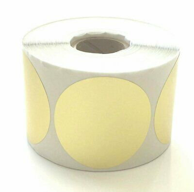 """2 """" Gold Foil Seals Round Inventory Labels 500 roll FBA Cover-Up Sticker Circle"""