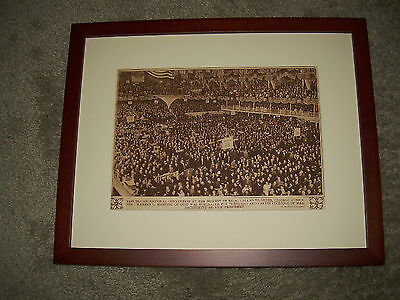 Original 1920 Framed Image Republican National Convention for Warren G. Harding