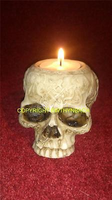 New Design Rubber Latex Mould Moulds Mold Small Jawless Skull T-Light Candle Tlc