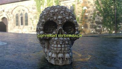 New Design Rubber Latex Mould Moulds Mold To Make Medium Gothic Skull + Skulls