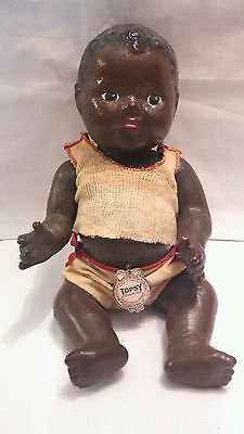 "Antique ""TOPSY"" Black Americana Reliable Toy Doll and Two Unmarked Dolls"