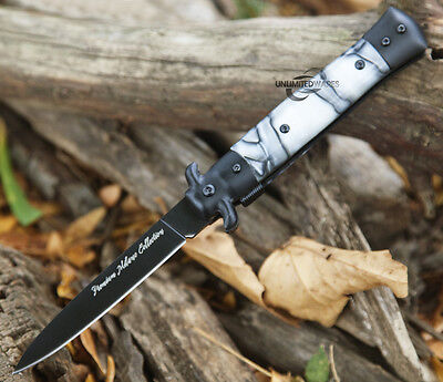 """9"""" TAC FORCE MILANO STILETTO SPRING ASSISTED KNIFE POCKET BLADE FOLDING SWITCH"""