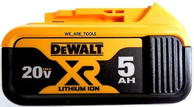 1 New Genuine Dewalt 20V DCB205 5.0 AH Battery For Drill, Saw, Grinder 20 Volt