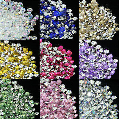15 Colors 1/3CT 4.5mm Silver Back Diamond Confetti Wedding Table Scatter Crystal