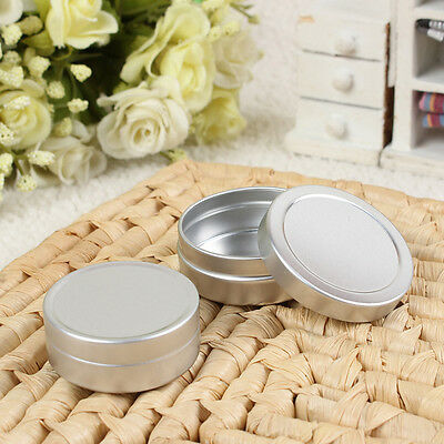 Multi-use 10ml Aluminum Empty Cosmetic Pots Case Lip Balm Container Jar Tins New