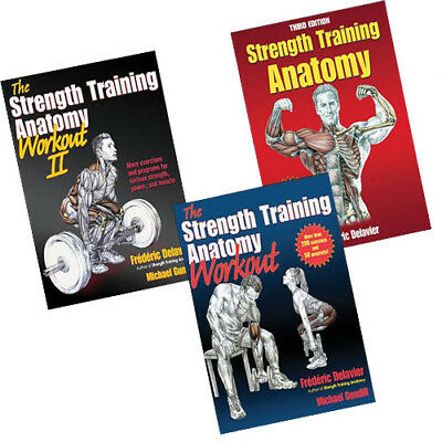 Strength Training Anatomy 3 Books Collection Set paperback Brand New Pack