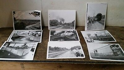 Vintage Lot of 5X7 Black & White Railroad Related Photo's
