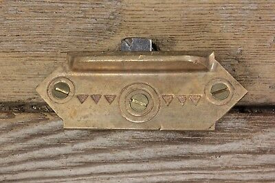 Window sash lift pull old antique solid brass mansion vintage screws Eastlake