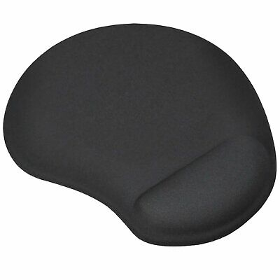 Black Mouse Mat/Pad Ergonomic Comfort Computer PC Small  - By TRIXES