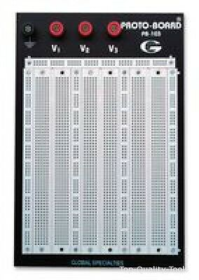 BREADBOARD, BACK PLATE AND TERMINAL Part # GLOBAL SPECIALTIES PB-103