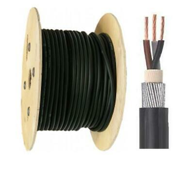 50 Mtr 6943X PVC 3 Core Steel Wire Armoured Cable 1.5mm 2.5mm 4mm 6mm 10mm 16mm
