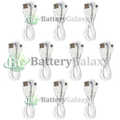 10 USB 6FT Micro Charger Cable for Phone Samsung Rugby 4/LG G2 G3 G4/HTC One M9