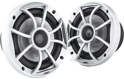 "New Wet Sounds Xs-650-S 6-1/2"" Loud 100W Rms Marine Boat Coaxial Speakers Silver"