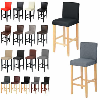 barhocker bistrohocker barst hle mit lehne hocker massivholz schwarz braun 202 eur 38 99. Black Bedroom Furniture Sets. Home Design Ideas