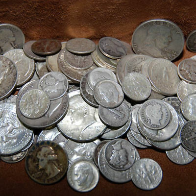 90% Silver - $5 Face Usa Coins Lot - Half Dollars Quarters Dimes Out Of Circ Mix