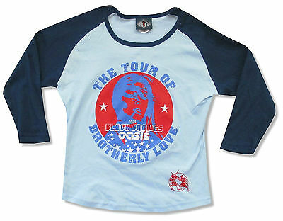 BLACK CROWES/OASIS BROTHERLY LOVE JERSEY BABY DOLL GIRLS SHIRT JR OS NEW