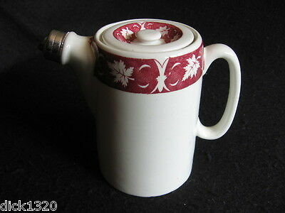 ART DECO DUNN & BENNETT 'RED MAPLE' HOTEL WARE HOT WATER JUG c.1937-39 EX