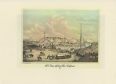 """1976 Vintage CALIFORNIA /""""MINERS WEIGHING THEIR GOLD/"""" EARLY MINING Lithograph 33"""