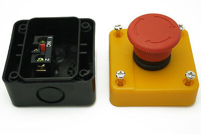 10A AC 660V Latching NC Emergency Stop Red Mushroom Push Button Switch Station