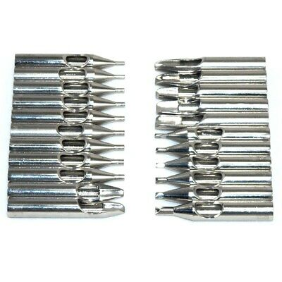 Stainless Steel Tattoo Nozzle Tip for Needles Tube Pack of 22