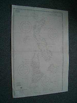 Vintage Admiralty Chart 66a MALDIVE ISLANDS - SHEET No. 1 1918 edn