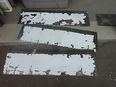 "3 sections antique VICTORIAN tin ceiling pressed border pattern 14.5"" x 49"""
