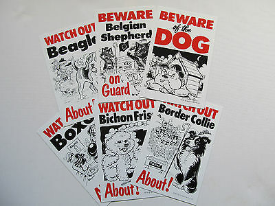Security Signs-German Shepherd-Staffie-Doberman-Weimaraner-Pug-Terrier-Boxer