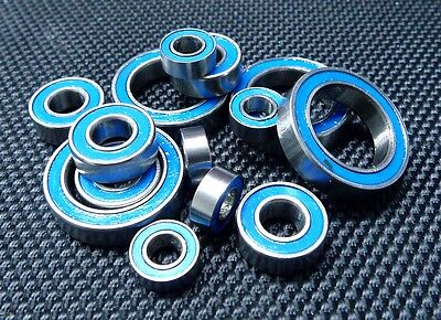 [BLUE] Rubber Sealed Ball Bearing Set (For TAMIYA RC 58354 The Frog)