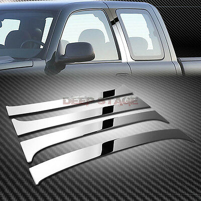 Stainless Steel Chrome Mirror Pillar Post Trim Cover For 99-07 Gmt800 Ext/super