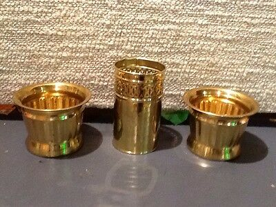 # Set 3 Brass Planters Home Interiors &  Gifts