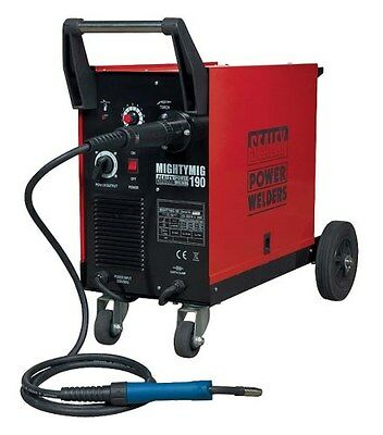 Sealey MIGHTYMIG190 Professional Gas / No-Gas MIG Welder 190Amp with Euro Torch