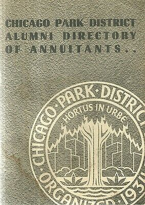 Chicago Park District Alumni Directory Annuitants Employees 1960