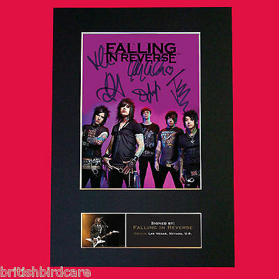 FALLING IN REVERSE Reproduction Autograph Mounted Signed Photo RE-PRINT A4 571