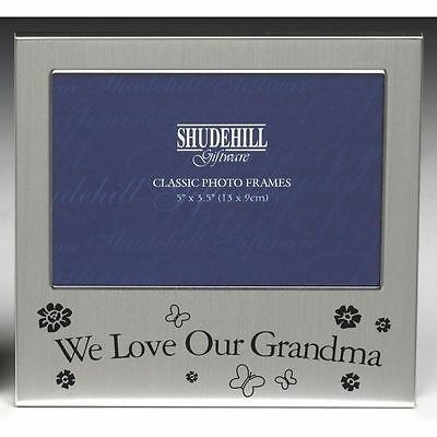 """We Love Our Grandma Photo Frame Christmas Birthday Mothers day Gift Present 5x3"""""""