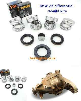 BMW Z3 2.0 Roadster 188 differential rebuild kit LSD diff bearings & oil seals