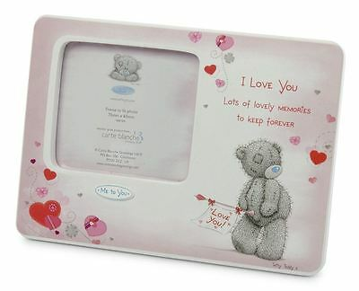 Tiny Tatty Teddy Bear Christening Me to You Porcelain Photo Frame
