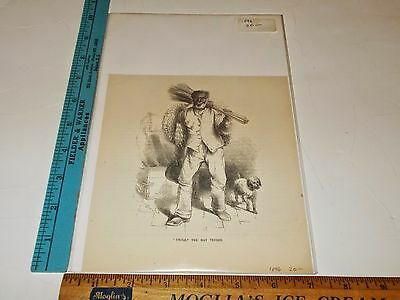 Rare Antique Original VTG 1896 Uncle The Mat Vender Black Americana Art Print
