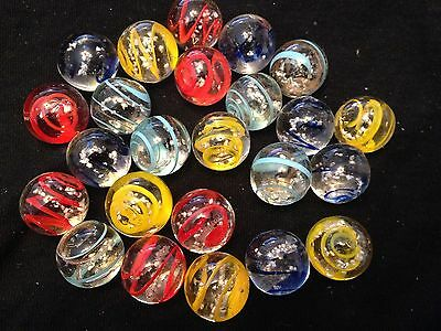 HOM Glass Marbles collectable 16mm Beautiful Handmade marble - Moonstone 5 types