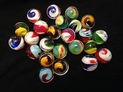 HOM Glass Marbles collectable 16mm Beautiful Handmade marble - Yin Yang 7 types