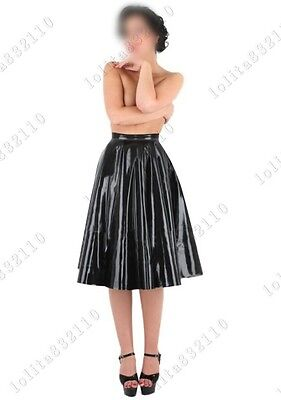 121 Latex Rubber Gummi Pleated Skirts dresses suit customized catsuit 0.4mm sexy