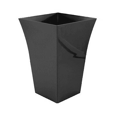 Large Tall Black Flared Milano Planter Plastic Patio Plant Pot Indoor Outdoor