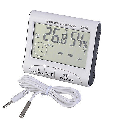LCD Indoor Desk Outdoor Digital  Thermometer Temperature Humidity Hygrometer